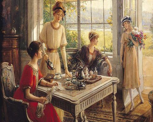 la classe degli inglese e il tè delle 17.00