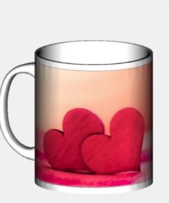 tazza regalo san valentino cuori rossi