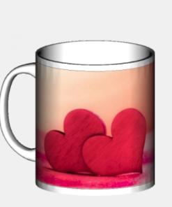 mug regalo san valentino cuori rossi